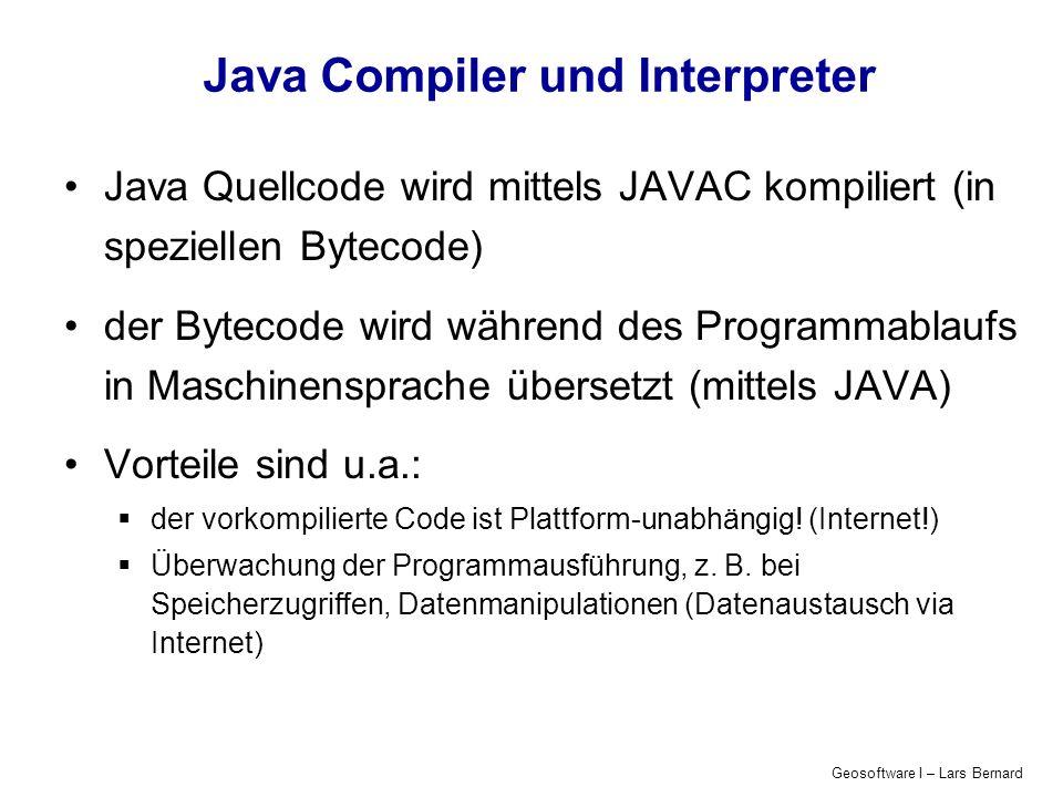 Java Compiler und Interpreter