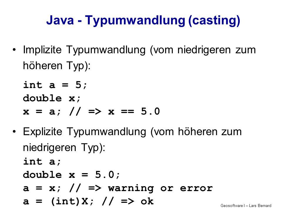 Java - Typumwandlung (casting)