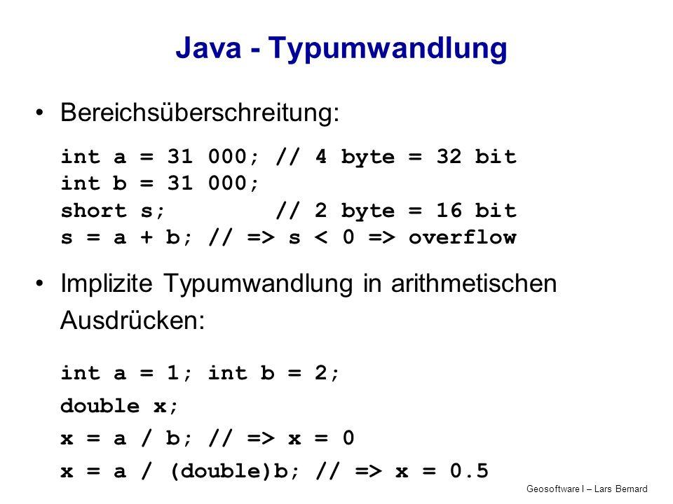 Java - Typumwandlung Bereichsüberschreitung: