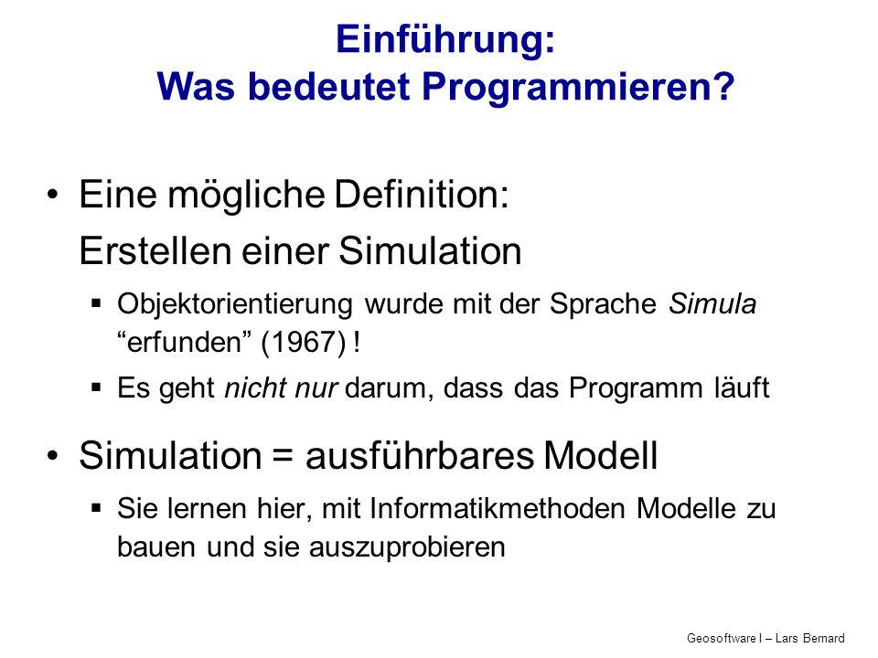 Einführung: Was bedeutet Programmieren