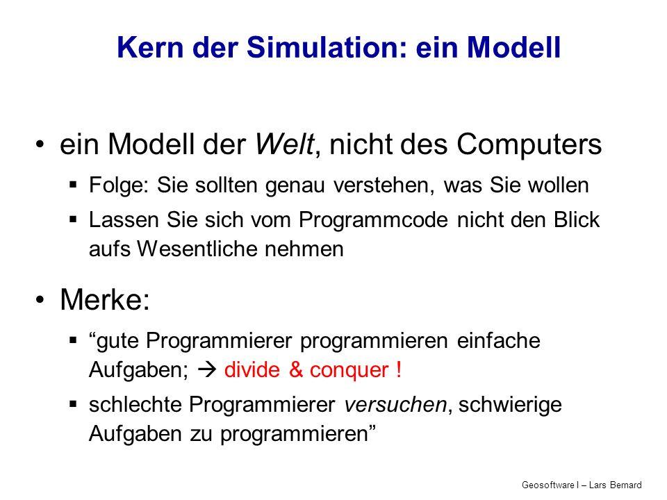 Kern der Simulation: ein Modell