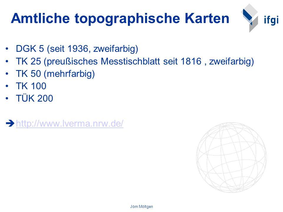 Amtliche topographische Karten