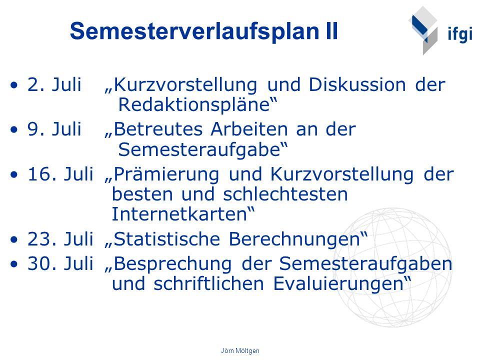Semesterverlaufsplan II