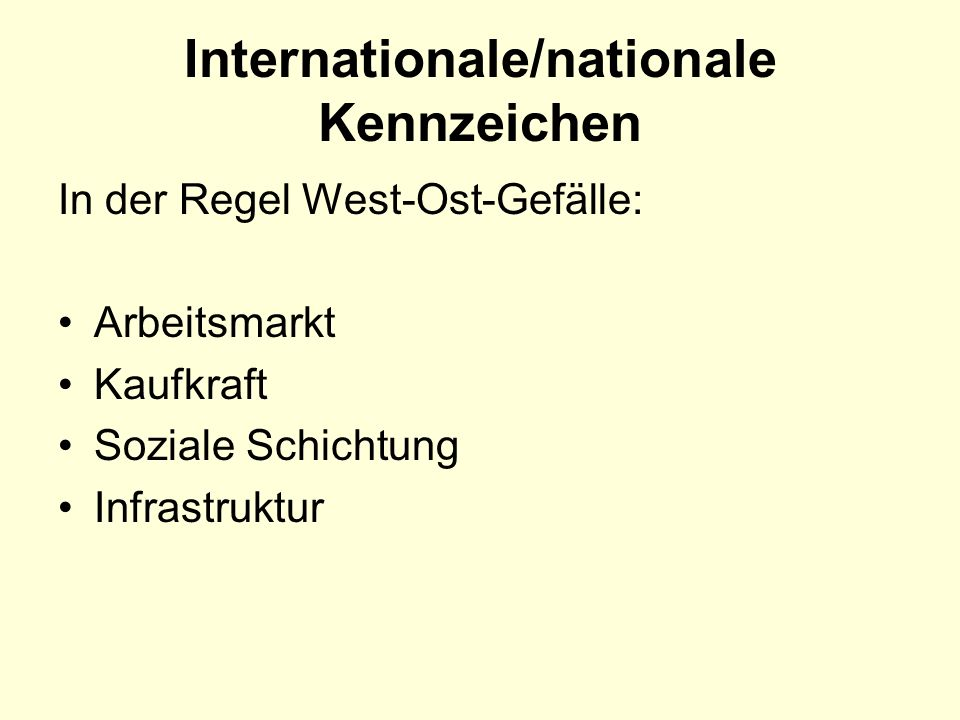 Internationale/nationale Kennzeichen