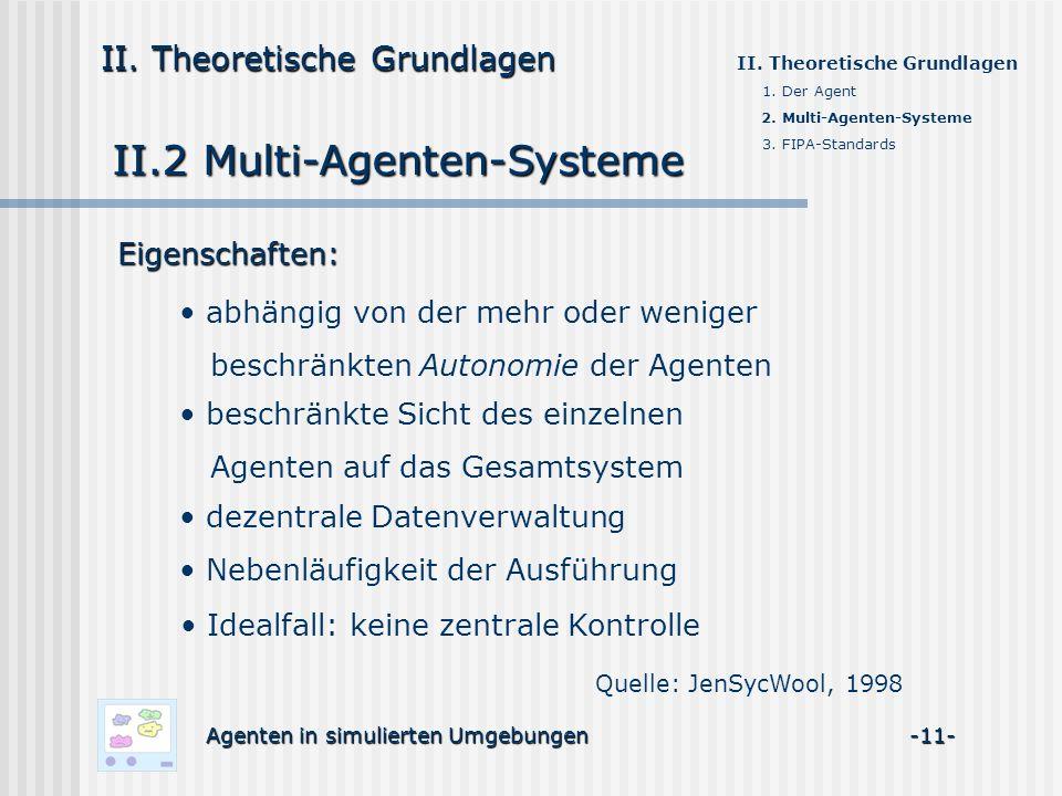II.2 Multi-Agenten-Systeme
