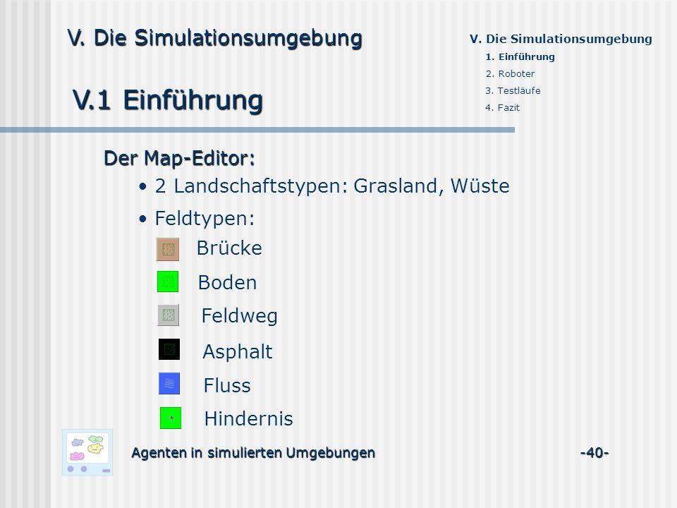 V.1 Einführung Feldweg Asphalt Fluss Hindernis