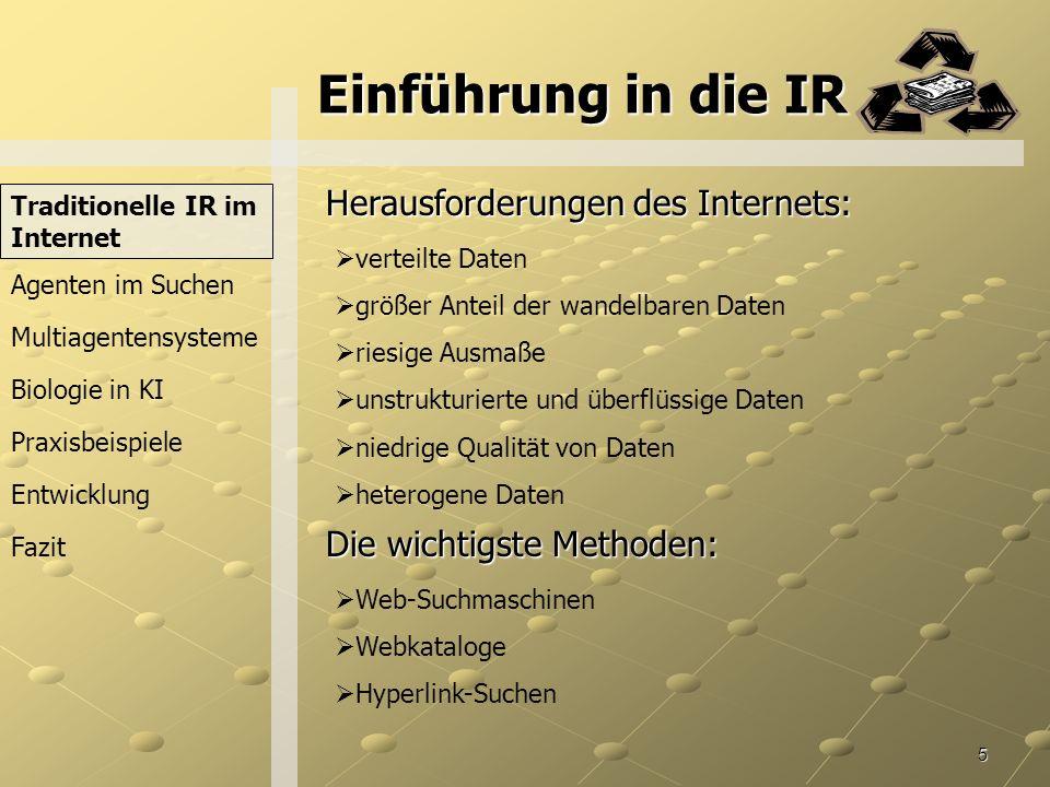 Einführung in die IR Herausforderungen des Internets: