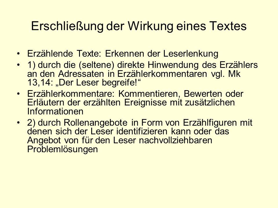 Erschließung der Wirkung eines Textes