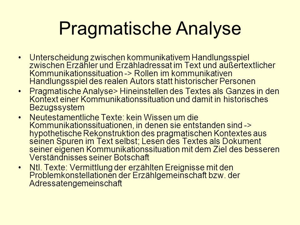 Pragmatische Analyse