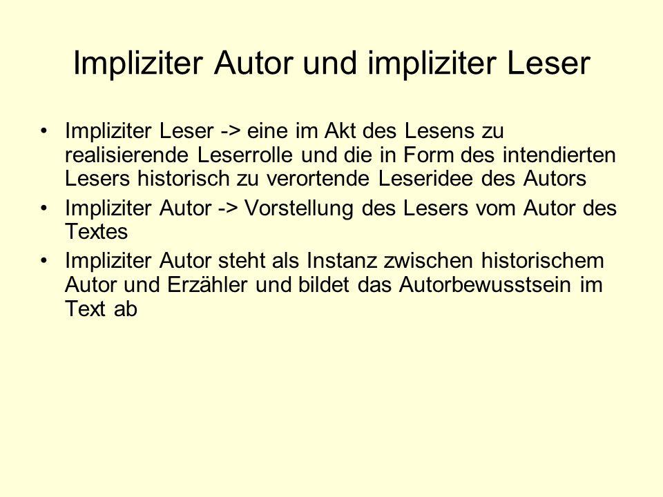 Impliziter Autor und impliziter Leser
