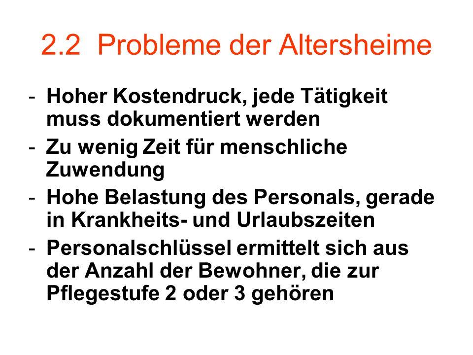 2.2 Probleme der Altersheime