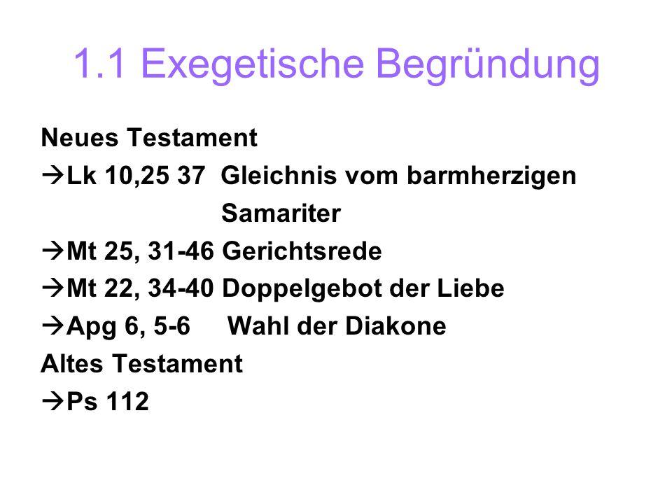 1.1 Exegetische Begründung