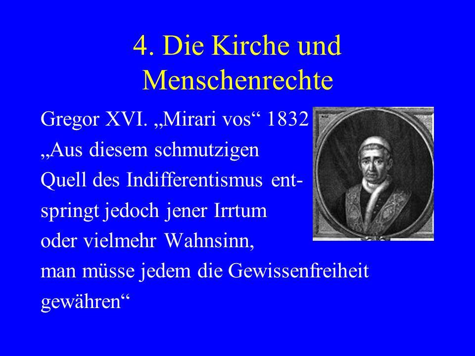 4. Die Kirche und Menschenrechte