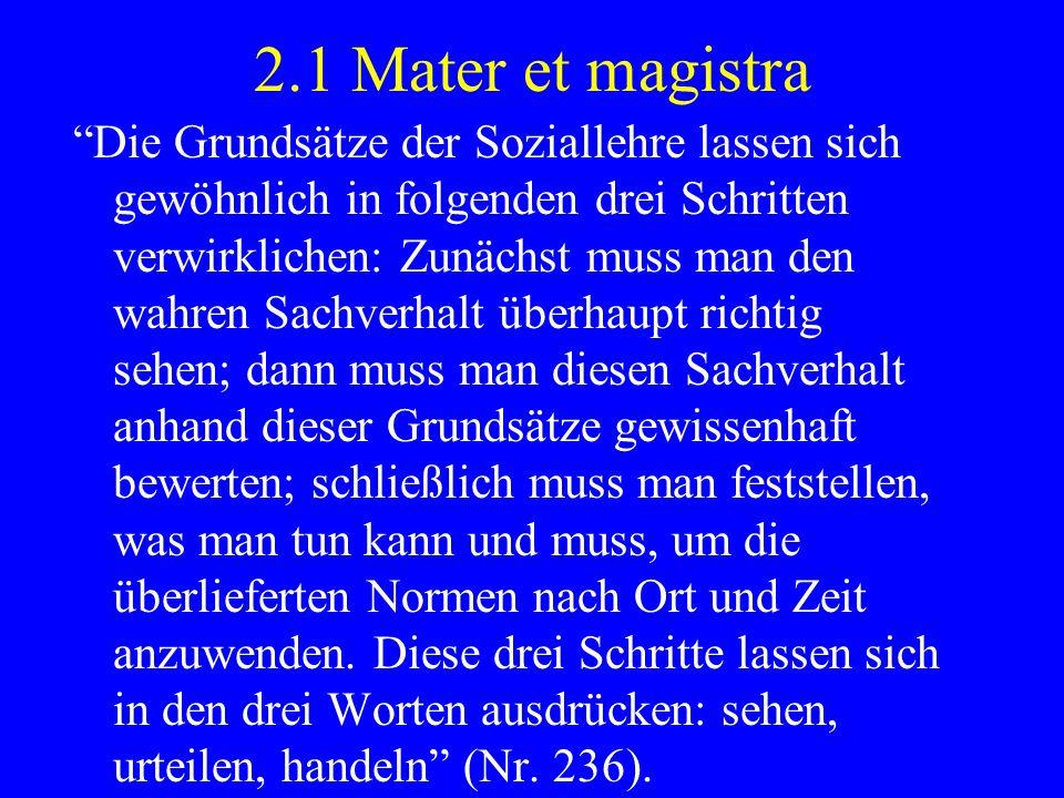 2.1 Mater et magistra