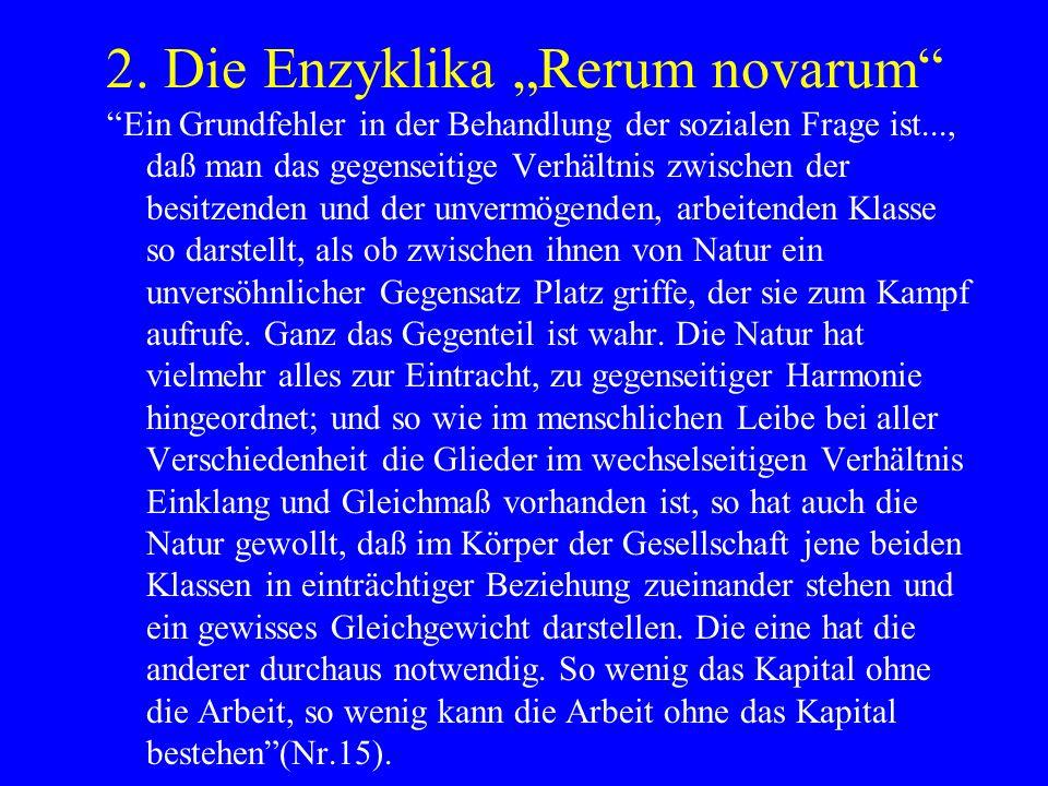 """2. Die Enzyklika """"Rerum novarum"""