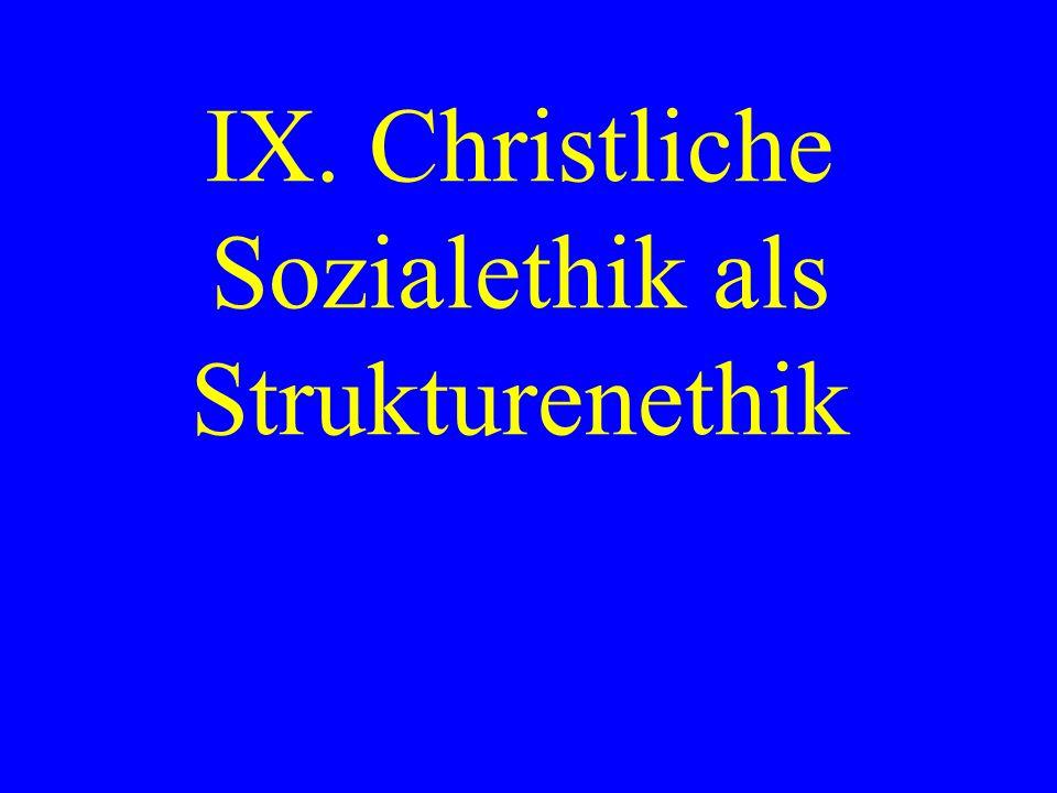 IX. Christliche Sozialethik als Strukturenethik