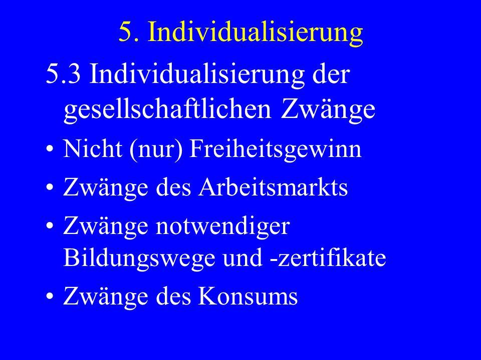 5.3 Individualisierung der gesellschaftlichen Zwänge