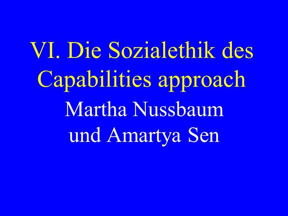 VI. Die Sozialethik des Capabilities approach