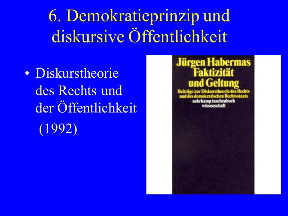 6. Demokratieprinzip und diskursive Öffentlichkeit