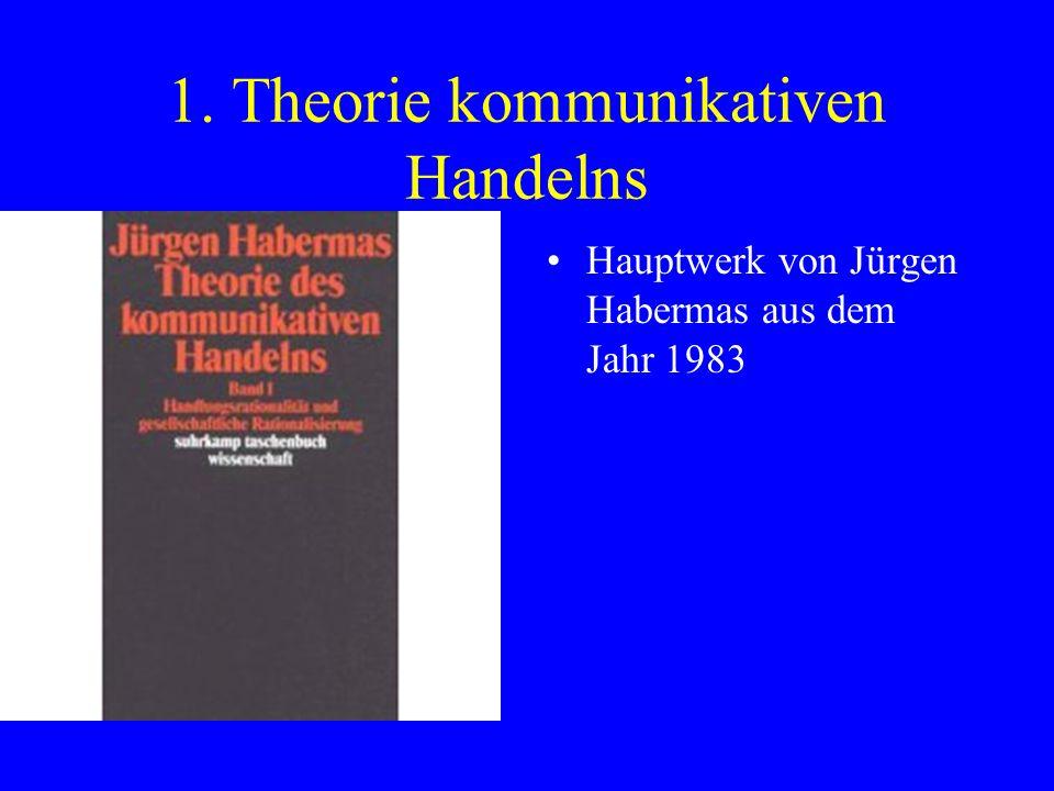 1. Theorie kommunikativen Handelns