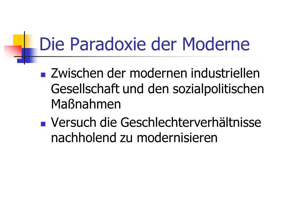 Die Paradoxie der Moderne