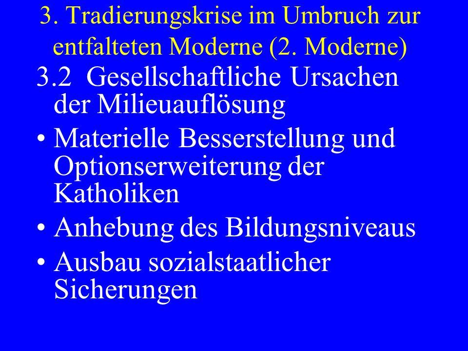 3. Tradierungskrise im Umbruch zur entfalteten Moderne (2. Moderne)