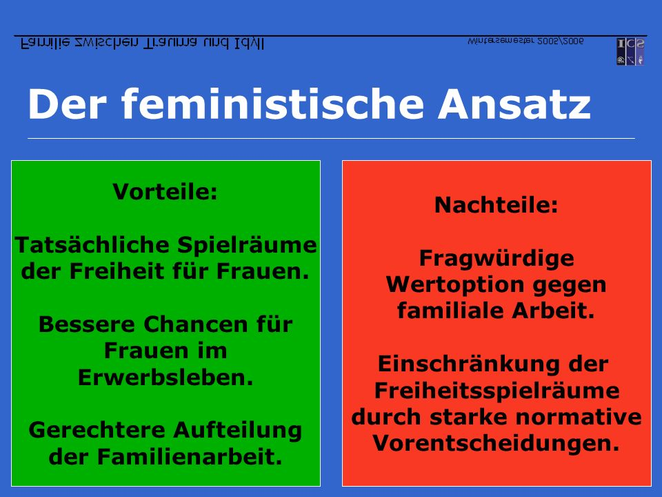 Der feministische Ansatz