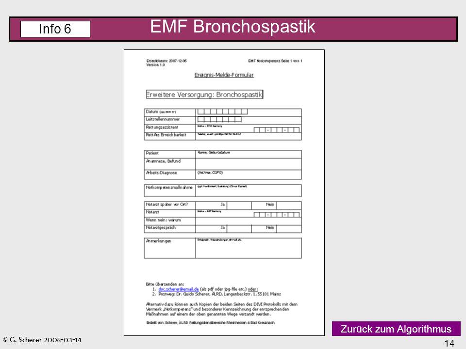 EMF Bronchospastik Info 6 Zurück zum Algorithmus
