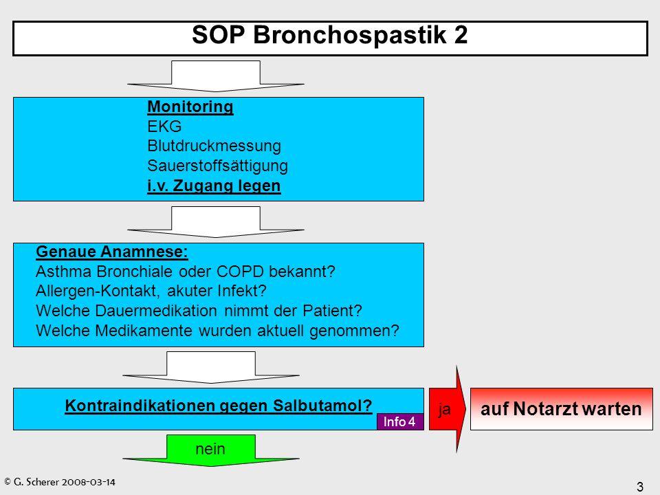 SOP Bronchospastik 2 auf Notarzt warten Monitoring EKG