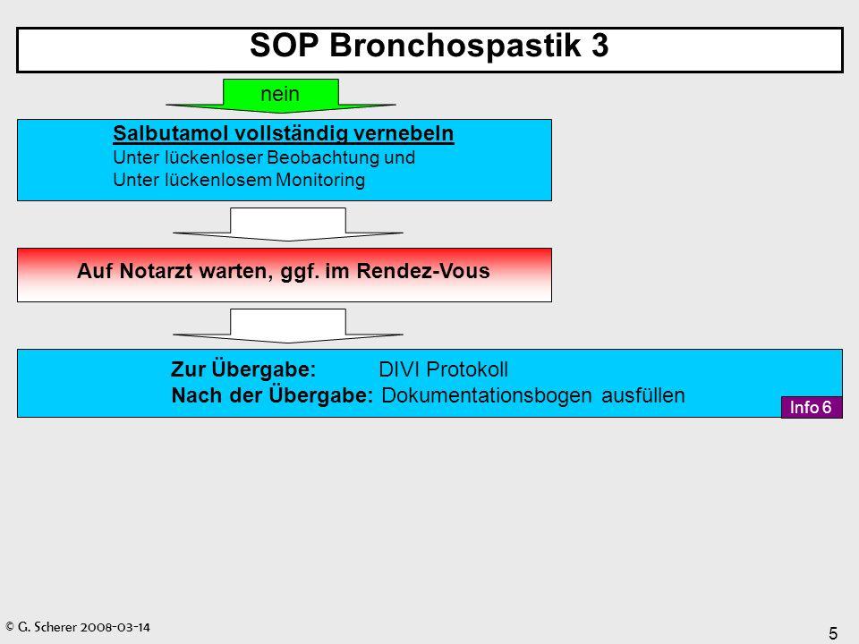 SOP Bronchospastik 3 nein Salbutamol vollständig vernebeln