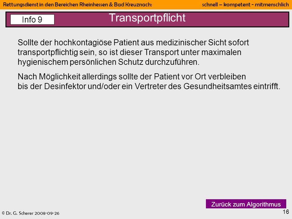 Transportpflicht Info 9