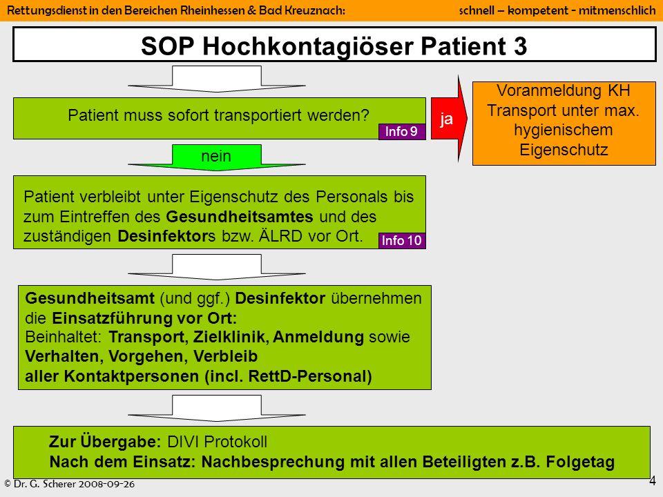 SOP Hochkontagiöser Patient 3