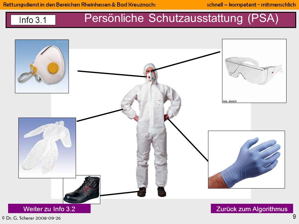 Persönliche Schutzausstattung (PSA)