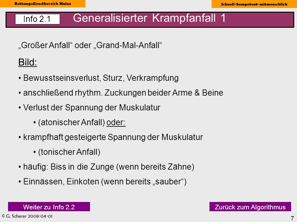 Generalisierter Krampfanfall 1