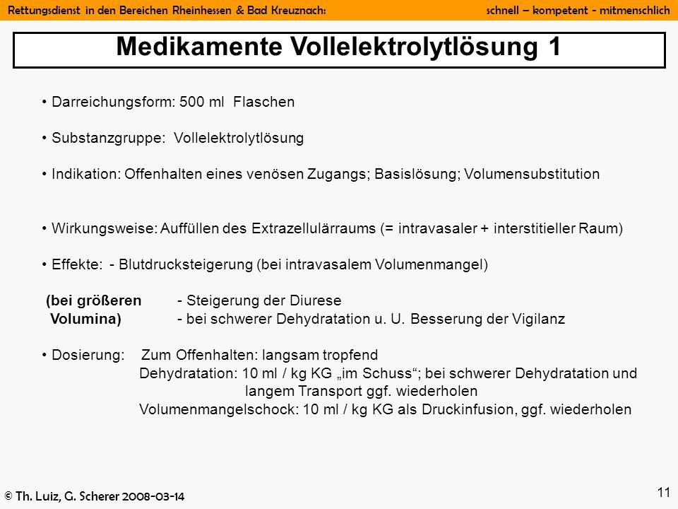 Medikamente Vollelektrolytlösung 1