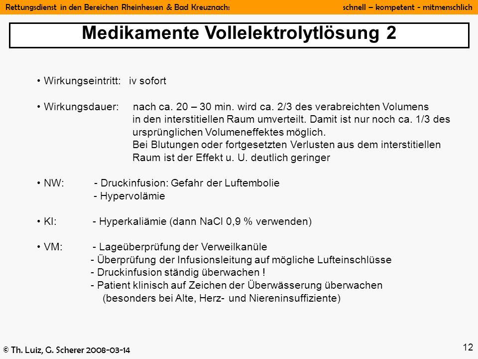 Medikamente Vollelektrolytlösung 2