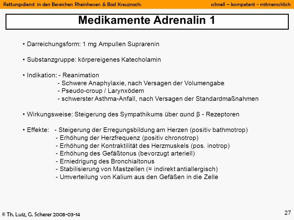 Medikamente Adrenalin 1