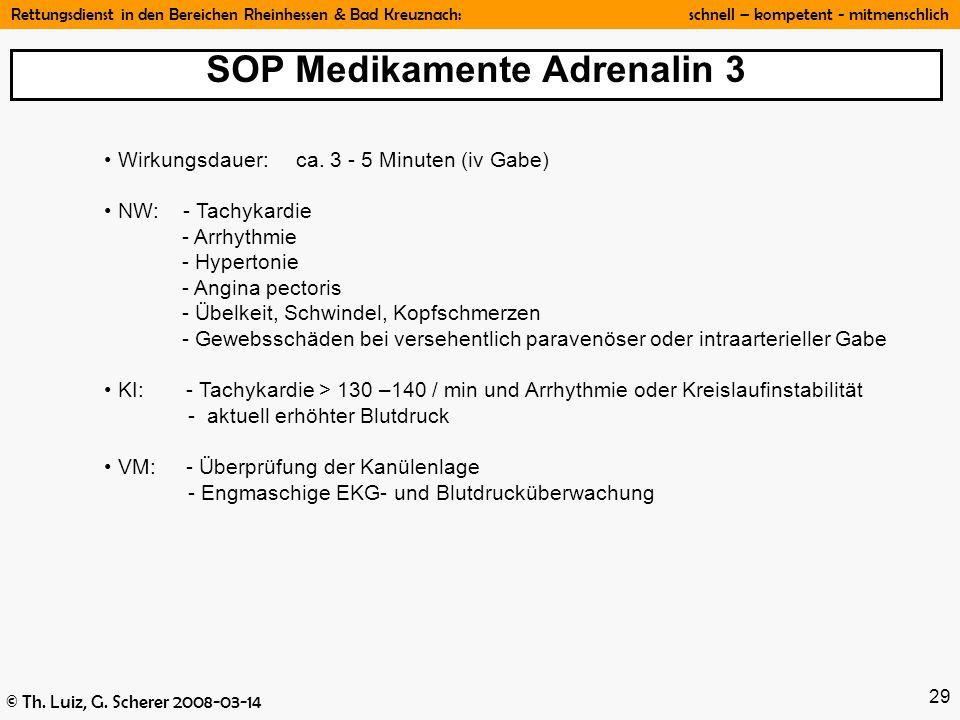 SOP Medikamente Adrenalin 3