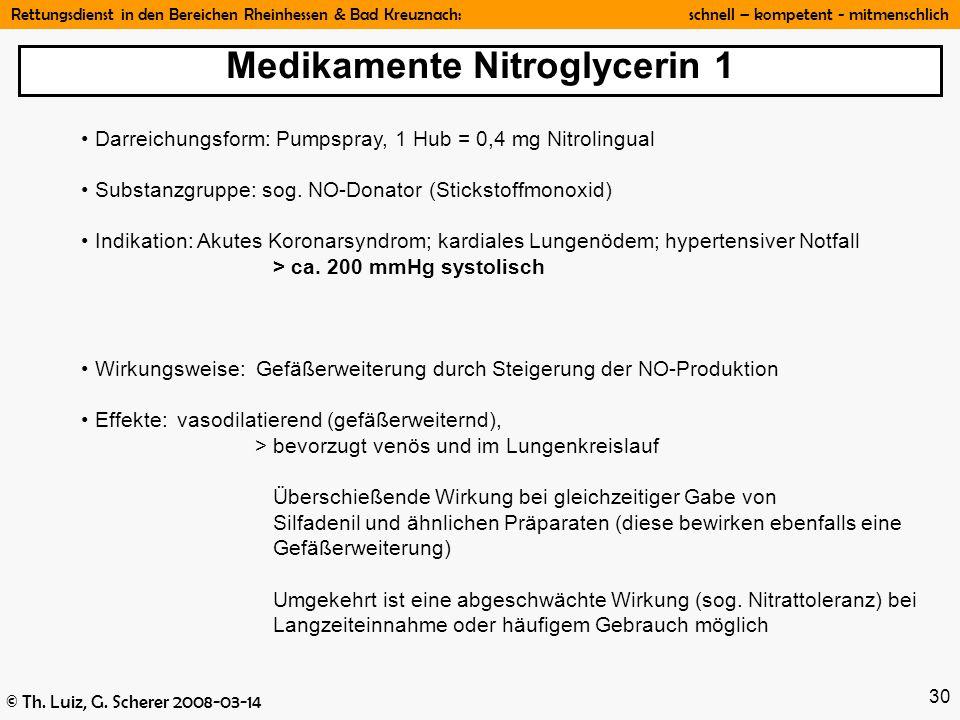 Medikamente Nitroglycerin 1