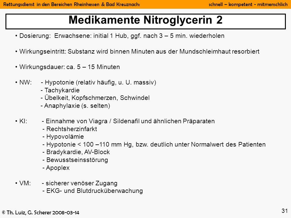 Medikamente Nitroglycerin 2