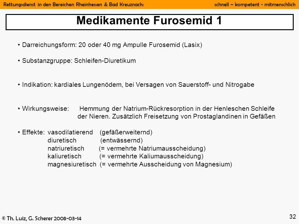 Medikamente Furosemid 1