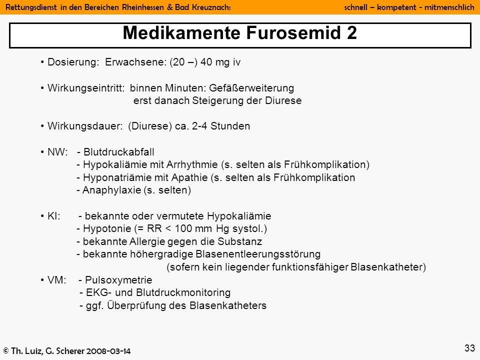 Medikamente Furosemid 2