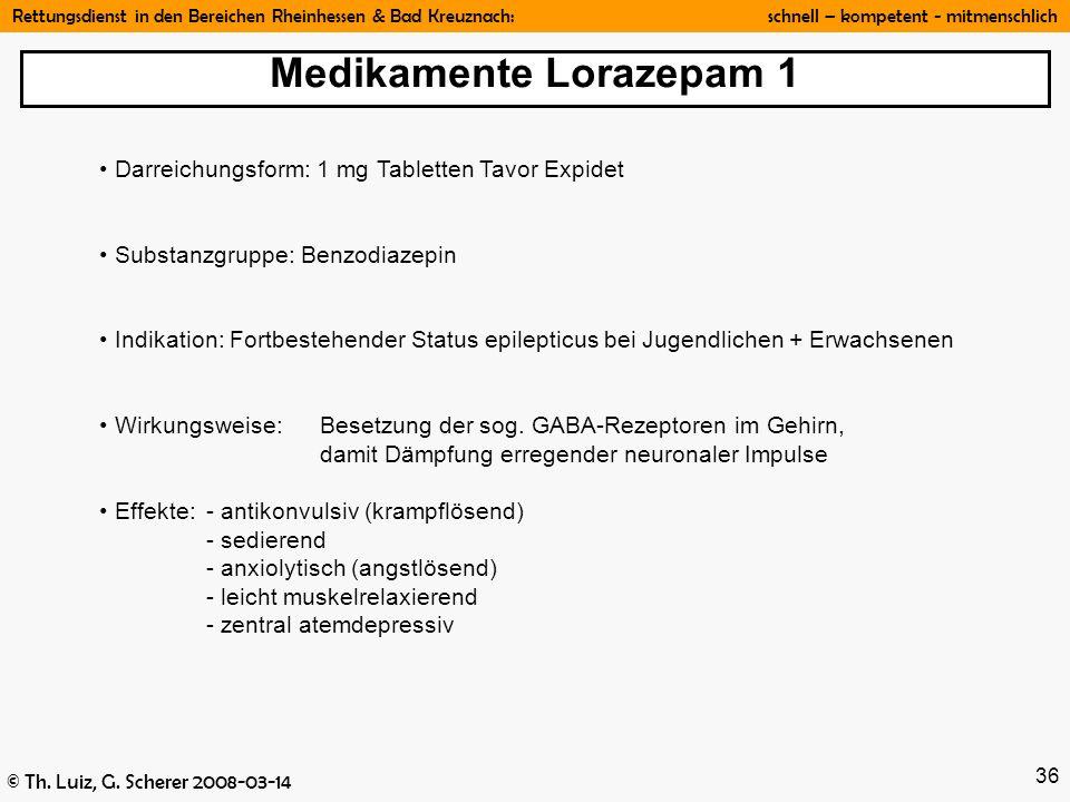 Medikamente Lorazepam 1