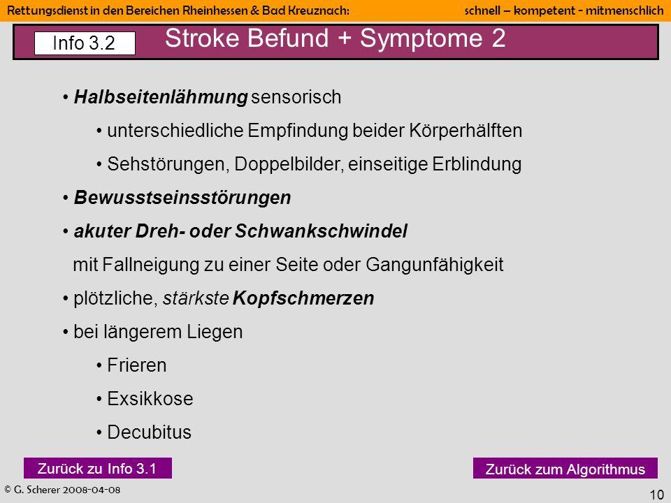 Stroke Befund + Symptome 2