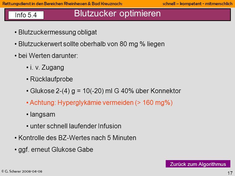 Blutzucker optimieren