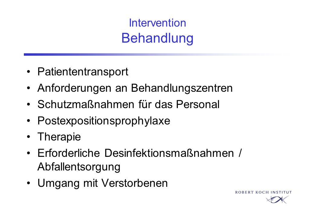 Intervention Behandlung