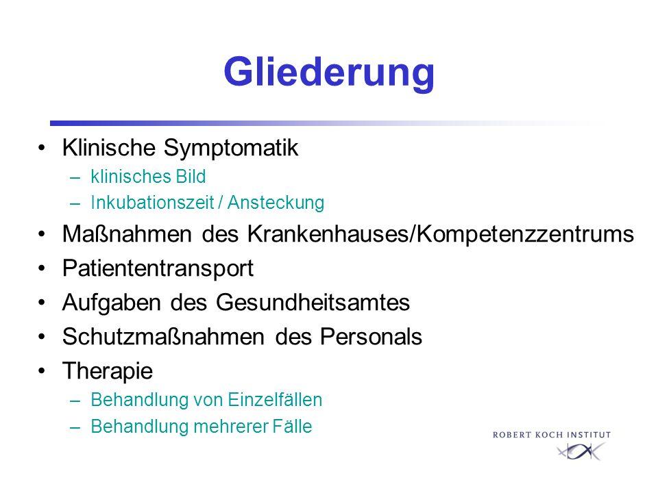 Gliederung Klinische Symptomatik