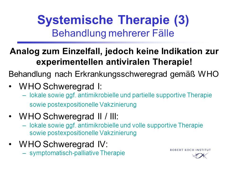 Systemische Therapie (3) Behandlung mehrerer Fälle