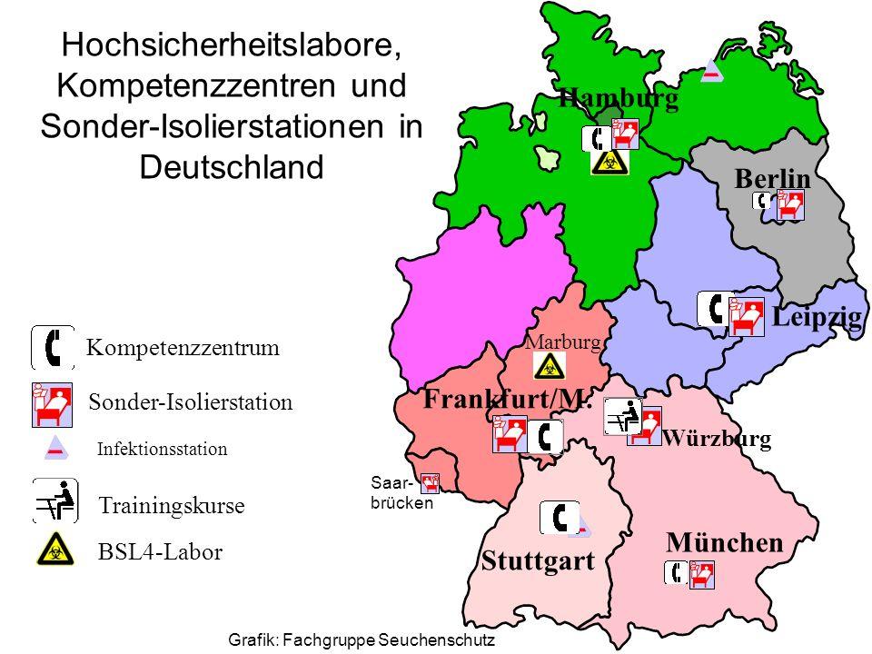 Hochsicherheitslabore, Kompetenzzentren und Sonder-Isolierstationen in Deutschland