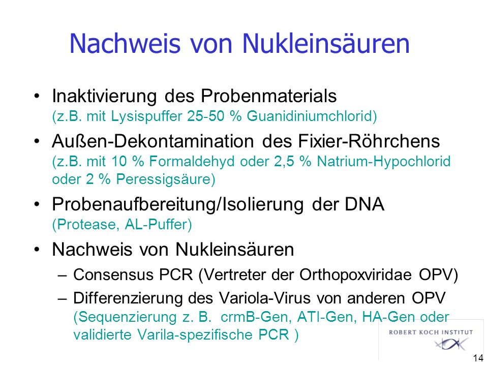 Nachweis von Nukleinsäuren